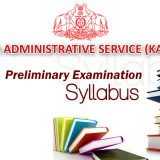KAS Preliminary Examination Detailed Syllabus
