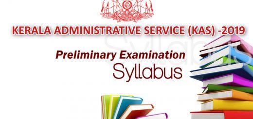 KAS Preliminary Examination Detailed Syllabus